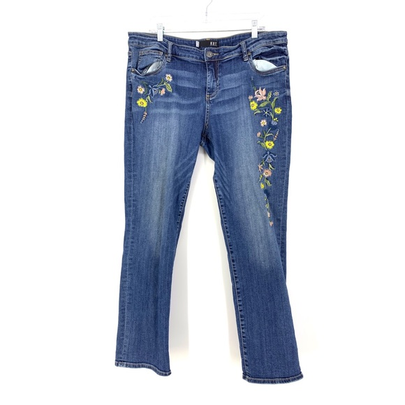 Kut from the Kloth Denim - Kut From The Kloth 16 Embroidered Boyfriend Jean
